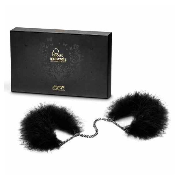 Bijoux Indiscrets - Za Za Zu Feather Handcuffs Black